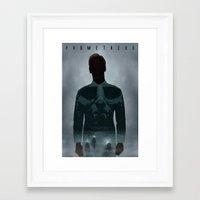 prometheus Framed Art Prints featuring Prometheus by Luke Eckstein