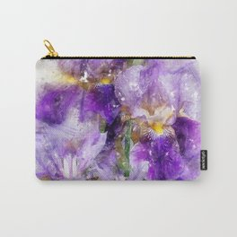 black iris watercolor Carry-All Pouch