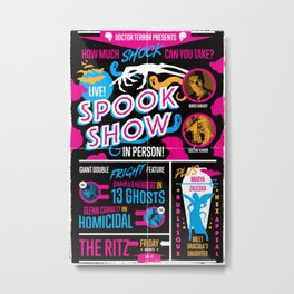 Spook Show Tribute Poster 01 Metal Print