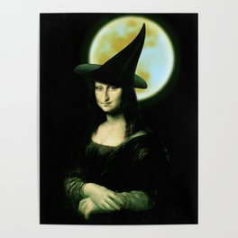 Mona Lisa Witchy Woman Poster