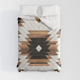 Urban Tribal Pattern No.5 - Aztec - Concrete and Wood Duvet Cover