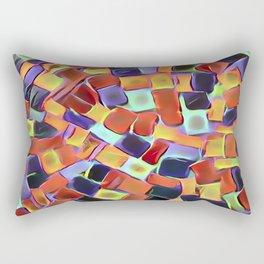 Colorful European Sidewalk Rectangular Pillow
