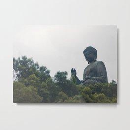 Tian Tan Buddha. Metal Print