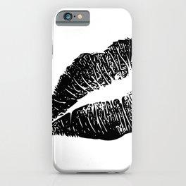 Kiss Lip Print iPhone Case