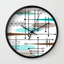 Mid-Century Modern Atomic Inspired Wall Clock