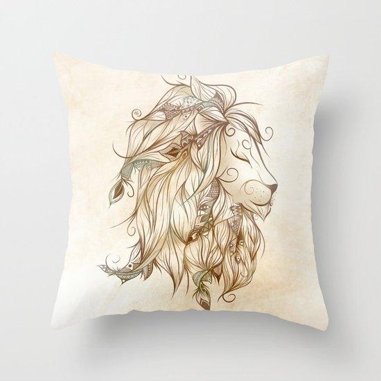 Poetic Lion  Throw Pillow