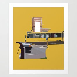 Yellow Tram Art Print