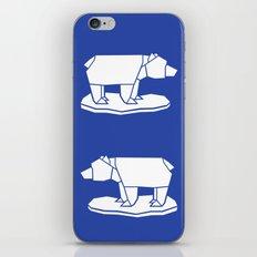 Origami Polar Bear iPhone & iPod Skin