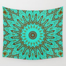 Kaleido in Oxidized Copper Wall Tapestry