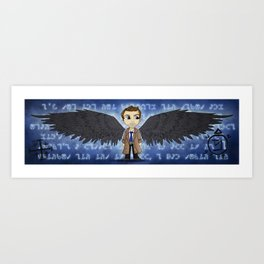 Angel in a Trenchcoat Art Print