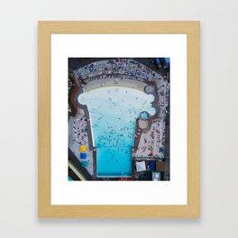 Wild Waves Wave Pool Framed Art Print