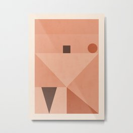 Minimal Geometric Shapes 87 Metal Print