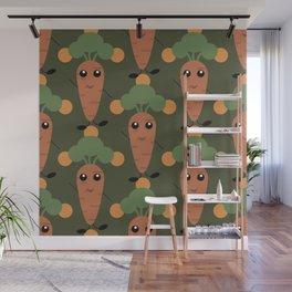 Cute carrot Wall Mural