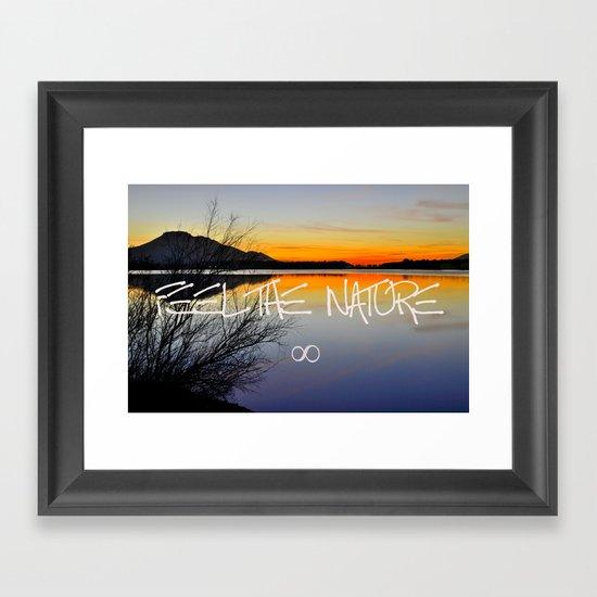 Feel the nature infinity ∞ Framed Art Print