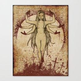 White Kali Canvas Print