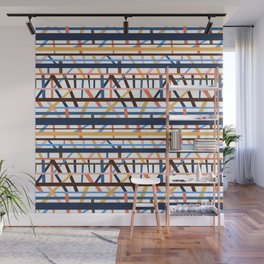 Stacked Lines Wall Mural