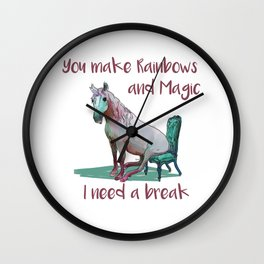 Unicorn Break Wall Clock