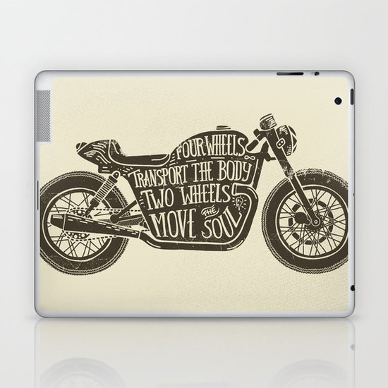 Two wheels move the soul Laptop & iPad Skin