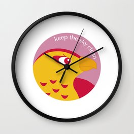 Keep the Sky Clean Wall Clock