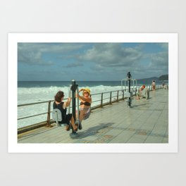 Canarian Exercise Art Print