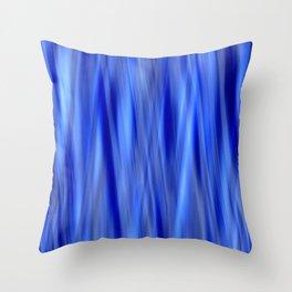 Pattern serie waves 2 blue Throw Pillow