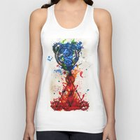 alchemy Tank Tops featuring abstract alchemy by Jesse Kerr