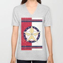 Americana Texas Star Unisex V-Neck