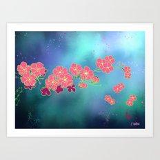 Cherry Blossom Nights Art Print