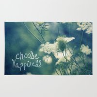 happiness Area & Throw Rugs featuring Happiness by Sandra Arduini