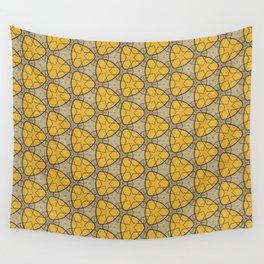 pattern hexyellowlines Wall Tapestry