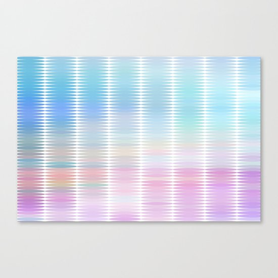Soft Pastel Oval Geometric Abstract Canvas Print
