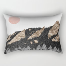 Flatirons Boulder Colorado - Climbing Gold Mountains Rectangular Pillow
