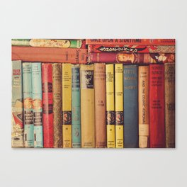 Vintage Books Canvas Print