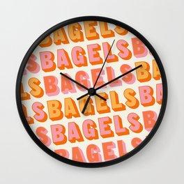 BAGELS BAGELS BAGELS Wall Clock