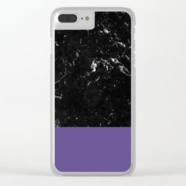 Ultra Violet Meets Black Marble #1 #decor #art #society6 Clear iPhone Case