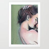 emerald Art Prints featuring Emerald  by Madelyne Joan Templeton