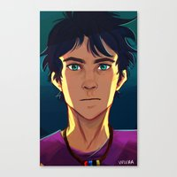 percy jackson Canvas Prints featuring Percy Jackson by VVIVAA
