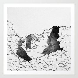 Love is in the air. Art Print
