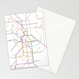 No name transport map Stationery Cards