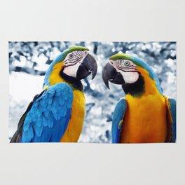 Macaws chatting Rug