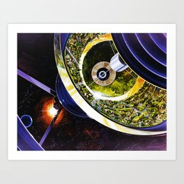 Inside the Bernal Sphere Art Print