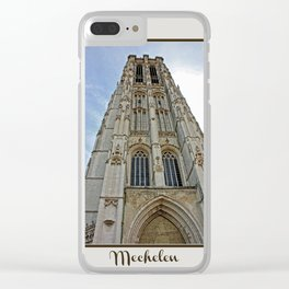 Mechelen Belgium cathedral tower Clear iPhone Case