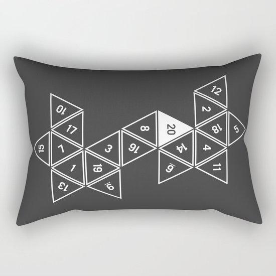 Unrolled D20 Rectangular Pillow