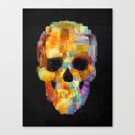 Skull Grunge Paint Black Canvas Print