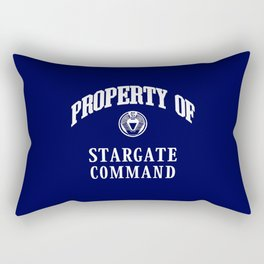 Property of Stargate Command Athletic Wear White ink Rectangular Pillow