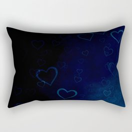 Blue hearts in the night Rectangular Pillow