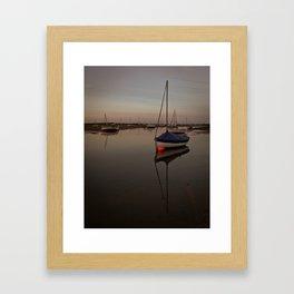 Boat & buoy Framed Art Print