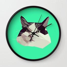 Cat Morpheus Polygonal Graphic Design Wall Clock