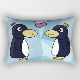 Penguins in love Rectangular Pillow