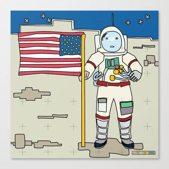 Moon Astronaut 1969 Canvas Print
